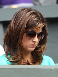 Mirka Federer Medium Layered Cut