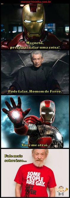 Homem de Ferro x Magneto. Merece 1 Tirinha!