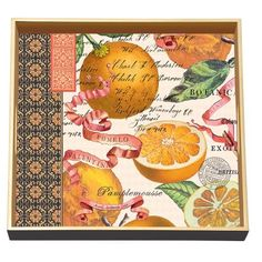 Michel Design Works 12-1/2-Inch Works Decoupage Wooden Square Tray, Grapefruit by Michel Design Works, http://www.amazon.com/dp/B0041YY06Q/ref=cm_sw_r_pi_dp_HbfIrb0TS3435