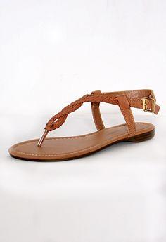 0df3a4a6811185 Flat Sandal with Braided Strap. Jayma Bowling · Happy Feet