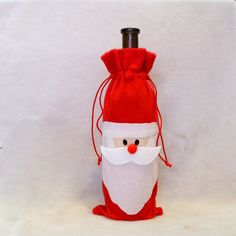 Christmas Ornament Red Wine Bottle Covers Santa Claus Kitchen Table Decoration Indoor Christmas Party Home Decor New Year Decor