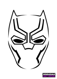 How To Draw Black Panther Mask Drawingtutorials101 Com Mask