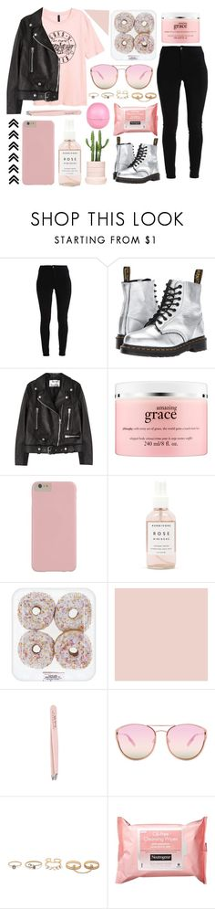 """Take me down to the paradise city where the grass is green."" by xo-nataliiee-xo ❤ liked on Polyvore featuring Dr. Martens, Acne Studios, philosophy, Herbivore, Anastasia, Quay, LULUS, Neutrogena and River Island"
