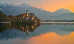 Bled... by Pawel Kucharski  #Photography #Beautiful #Clouds #Sky #Landscape #Image #Nature #Sunrise