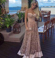 vestido de festa rose madrinha de casamento