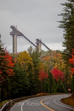 Olympic Ski Jumps, Lake Placid New York;  Wet Wednesday's in the summer are great fun
