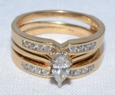 17 DIAMOND TOTAL 1 MARQUISE SOLITAIRE 14K YELLOW GOLD RING