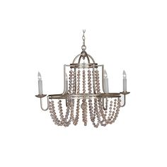 Gabby Home Corinna Champagne Silver And Antique White Eight Light Chandelier On SALE