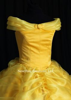 Beauty and the Beast Belle Classic Yellow Gown Yellow Dress Summer, Yellow Maxi Dress, Yellow Gown, Beauty And Beast Birthday, Beauty And The Beast Theme, Corsets, Belle Disney, Robes Disney, Frock Patterns