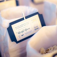 Movie Ticket Escort Card - Add a cinematic touch to your wedding reception with this DIY idea created by blogger Theodore Leaf. Fashion card stock and paper to resemble classic movie tickets. And then let the show begin!