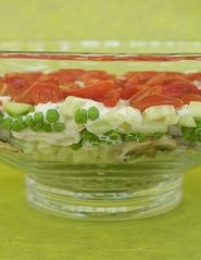 Make it in a Mason jar and keep on ice for individual salads for a picnic. Layered Chicken Salad with Tarragon Dressing Serves 8 Home gourmet Lee Clayton Roper loves this classic recipe as it's a...