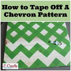 How to Tape Off a Perfectly centered chevron pattern