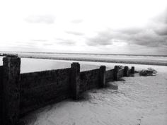Cleveleys beach. I remember these groynes from my childhood.