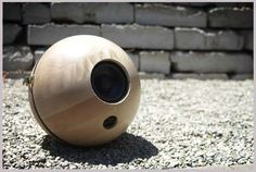 """Death Star"" wireless speakers - requires wiring but cool!"