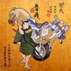 絵馬圖 / 2001 / シナベニヤに油彩、ニス / 182.5×183 cm