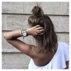 Hair Inspiration Half Bun