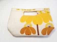 Vintage 60's Flowered Clutch Bag