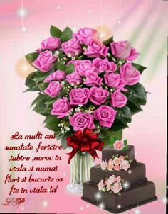 La multi ani  ! Multa sanatate si fericere  sa va bucurati de cei dragi . Happy Aniversary, Birthday Blessings, Happy Birthday Pictures, Anniversary Quotes, Birthday Quotes, Decoration, Diy And Crafts, Floral Wreath, Bouquet