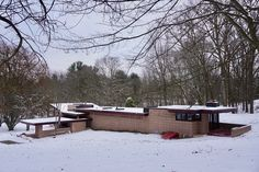 Stay in a Recently Restored Frank Lloyd Wright Usonian Home, the Eppstein House