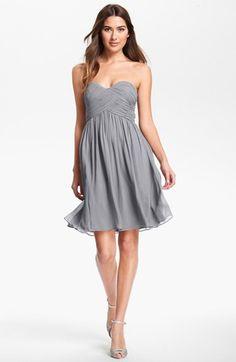 Donna Morgan 'Morgan' Strapless Silk Chiffon Dress available at #Nordstrom