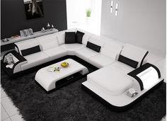Orion - U Leather Sofa Lounge Set