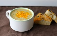 Broccoli cheese soup. A panera bread copycat recipe. Can't wait to make it!!