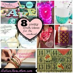 8 pretty craft ideas for the weekend!