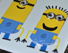 Jen's Scraptography: Despicable Me Minion Birthday Card
