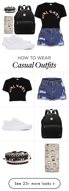"""""""Casual"""" by chap15906248 on Polyvore featuring River Island and Vans"""