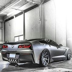 muscle cars only Some sweet looking concave wheels on this c7 corvette stingray grey brushed