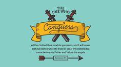 요한계시록 3:5, 이기는 자는 이와 같이 흰 옷을 입을 것이요, 내가 그 이름을 생명책에서 결코 지우지 아니하고, 그 이름을 내 아버지 앞과 그의 천사들 앞에서 시인하리라.