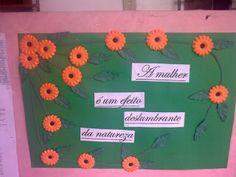 painel flores dia da mulher - Atividades para Educação Infantil
