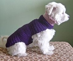The Lena Dog Sweater Hand Crochet Cashmere & Wool