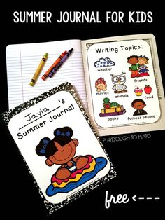 Looking for a simple way to keep kids writing this summer?! Whether you're a parent hoping to battle summer slide or you're a teacher who wants to keep kids learning over the break, our free summer journals are the perfect solution. Great for Kindergartne