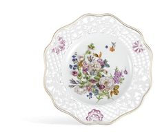 "Wall plate pierced, Colorful flower pads, signet ""Limited Masterpieces, limited, Ø 25 cm"