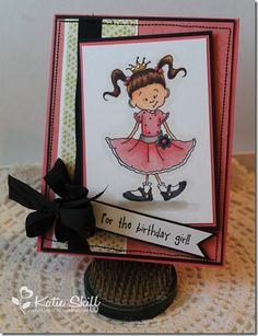 Kraftin Kimmie image and black vintage seam binding.