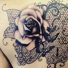 Resultado de imagem para tatuagem flor renda