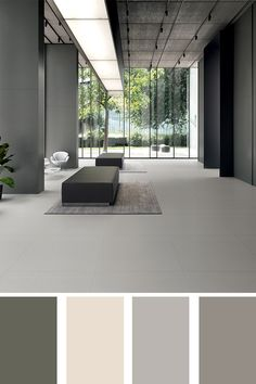 Neutral colors for a stylish, contemporary setting. #ceramichecaesar #colorpalette #neutralcolors
