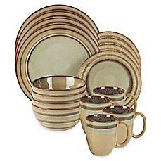image of American Atelier Zola 16-Piece Dinnerware Set in Brown