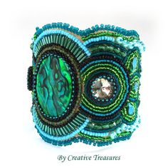 After the Rain, a Bead Embroidered Cuff £85.00