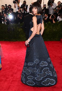 """Katie Holmes arrives at The Metropolitan Museum of Art's Costume Institute benefit gala celebrating """"China: Through the Looking Glass"""" on Monday, May 4, 2015..."""