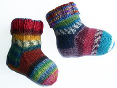 Baby Wool Socks Newborn Socks Hand Knit by handicraftland on Etsy Baby Wool Socks Newborn Socks Hand Knit by handicraftland on Etsy Always aspired to learn to knit, although undecided wh. Wool Socks, Knitting Socks, Baby Knitting, Multi Coloured Socks, Beginning Crochet, Baby Boy Booties, Baby Socks, Baby Kind, Textiles