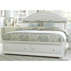 Summer House Oyster White Cottage Storage Bed | Overstock.com Shopping - The Best Deals on Beds