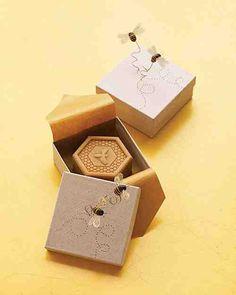 Honey Theme Wedding Ideas soap in a bee box