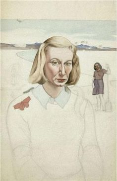 Rita Angus began this self-portrait soon after moving to Clifton, a suburb of Christchurch, but left it unfinished. Angus was withdrawing into her art. New Zealand Tattoo, New Zealand Art, Woman Painting, Artist Painting, Female Portrait, Female Art, Tamara Lempicka, Elaine De Kooning, Francoise Gilot