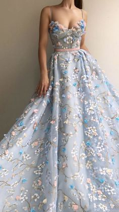 Princess Prom Dresses, Pretty Prom Dresses, Sweet 16 Dresses, Tulle Prom Dress, Prom Dresses Blue, Ball Dresses, Elegant Dresses, Cute Dresses, Dresses Dresses