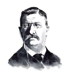 #DanWilliams #TeddyRoosevelt #TheodoreRoosevelt #President #portraitillustration #illustration #PresidentoftheUnitedStates #lindgrensmith