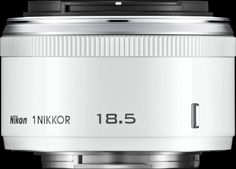 Nikon 1 Nikkor 18.5mm f/1.8  Prime lens | Nikon 1  The Nikon 1 Nikkor 18.5mm F1.8 is a fast 'normal' prime lens for its 1 system mirrorless cameras. The 18.5mm lens offers a field of view equivalent to that of a 50mm lens on a full-frame camera. Its wide maximum aperture, it makes it easier to get the most out of the 1 system cameras in low light and makes it easier to produce shallow depth-of-field images.