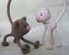 Patrón gratis amigurumi de gatos rusos                                                                                                                                                                                 Más