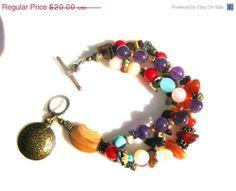 ON SALE Multi Strand Bohemian Bracelet  Multiple by HippieThings, $18.00
